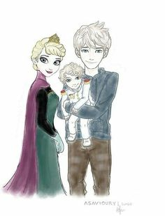 Queen Elsa Frost, King Consort Jack Frost, and Crown Prince Evan Frost. Jack Frost Und Elsa, Jack And Elsa, Elsa Frozen, Disney Frozen, Elsa Elsa, Frozen Movie, Elsa Photos, Rap, Movies