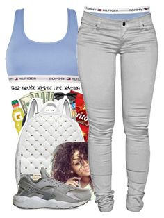 """""""Untitled #91"""" by daijahhill25 ❤ liked on Polyvore featuring Tommy Hilfiger, Michael Kors, NIKE and Dressunder50"""