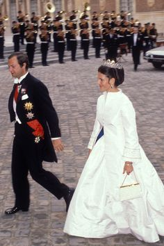 Silvia, Queen of Sweden, and her husband King Carl XVI Gustav of Sweden in Paris, France, 16 06 1980