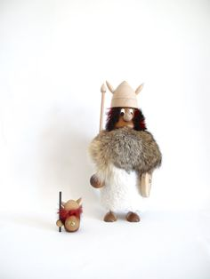 Giant Danish Teak Viking Figure