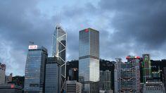 As evening falls in Hong Kong...