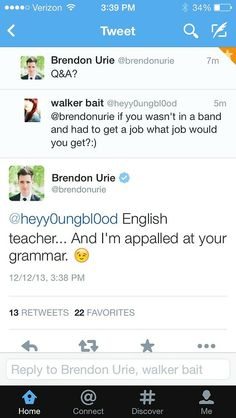So Brendon Urie is pretty much perfect, okay.