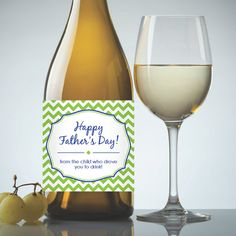"Father's Day ""From The Child Who Drove You To Drink"" Printable Wine Label - Instant Download PDF"