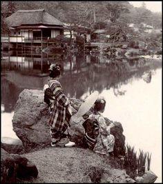 Hikone Park -- From a ca.1898 half-stereoview by T. ENAMI