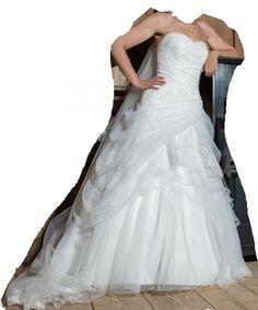 ♥ romantic wedding dress by lohrengel rumer gr ivory ivory ♥ An . One Shoulder Wedding Dress, Ivory, Romantic, Wedding Dresses, Style, Fashion, Bride Groom, Dress Wedding, Sell Wedding Dress