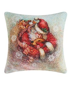 Another great find on #zulily! Santa's Best Friend Throw Pillow #zulilyfinds
