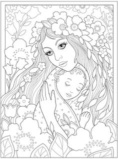 Welcome to Dover Publications Baby Coloring Pages, Coloring Pages To Print, Creative Haven Coloring Books, Line Artwork, Dover Publications, Book Of Shadows, Colorful Pictures, Mandala, Creations
