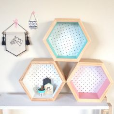 {WELCOME} Handmade in Victoria Australia. Pre-made, ready to ship. Shipping to Australia only.  {OUR DESIGNS} This wonderful handmade hexagon shelf