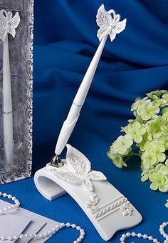 Fluttering Butterflies Themed Pen Set from Wedding Favors Unlimited