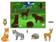 Buy Match the Animals to their Shadows by AlexanderPokusay on GraphicRiver. Match the animals to their shadows educational game vector illustration Emotions Preschool, Preschool Colors, Preschool Art, Sensory Activities Toddlers, Pre K Activities, Montessori Activities, Free Printable Art, Educational Games, Kids Education