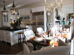Favorite kitchens  Cote De Texas Kitchens | Kitchens with Small Dining Spaces: Use a Desk for Your Table!