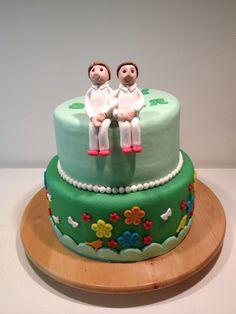 Combinatie taart; bruidstaart / verjaardagstaart