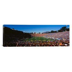 "East Urban Home Panoramic Rose Bowl Stadium, Pasadena, California Photographic Print on Canvas Size: 20"" H x 60"" W x 1.5"" D"