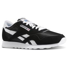 c14b41687c0 Reebok Males Classic Nylon in Black   White Size 15 - Casual
