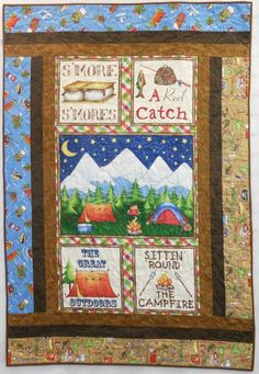 Camping Themed Quilts | fun camping themed quilt that is perfect for any child who loves the ...