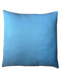 Pillow Thai Silk  Two Ply Solid Colors Light Blue by IMPERIO Vida