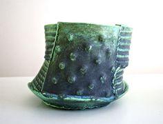 Merran Esson Bullongra Bowl hand-built ceramic with copper glaze 18 x 16 x 13 cm