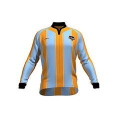 3022b7ec2 MLS Houston Dynamo Mens Original Striped Long Sleeve Cycling Jersey XLarge  Blue -- Find out