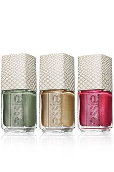 Essie Repstyle Collection in (from left to right) Crocadilly, Repstyle and Sssssexy
