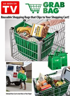 Grab Bags Amazing Eco Friendly Expandable Shopping Bags | As Seen On TV Sale Infomercial Products Shop