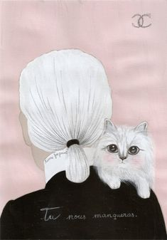 Decoupage, Chanel Paris, Coco Chanel, Russian Fashion, Pretty Pictures, Cat Art, Karl Lagerfeld, Icon Design, Modern Art