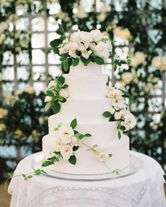 The rose florals on this cake are pretty, but I don't like the vines. Luxury Wedding Cake, Elegant Wedding Cakes, Our Wedding, Destination Wedding, Wedding Ideas, Decadent Cakes, Modern Wedding Inspiration, Handmade Wedding, Shower Cakes