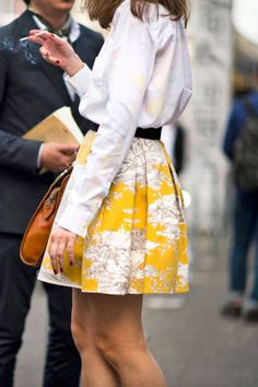 Paris Fall 2012 Couture #streetstyle #yellow