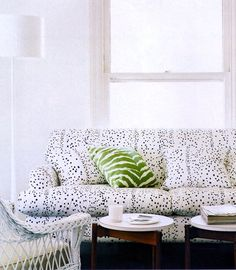 Use fun prints on your couch and make your space reflect who you are.