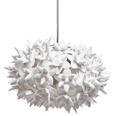 Kartell's origami lighting masterpiece, known as the Bloom Pendant, is sharp accent in white.