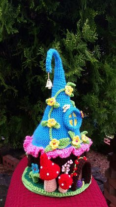 Fairy / Gnome Fantasy House Handmade crochet by emcrafts on Etsy