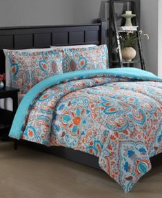 CLOSEOUT! Julissa Reversible 3-Piece King Comforter Set