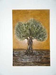 Ελιά από πηλό σε καμβά !!!!! Handmade, Painting, Art, Art Background, Hand Made, Painting Art, Kunst, Paintings, Performing Arts