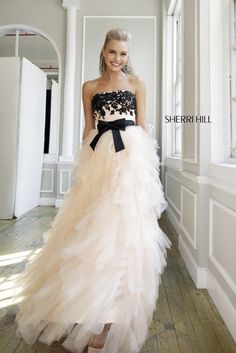 Sherri Hill 4318 : Black & White Wedding Dress