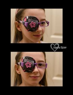 Hand Sewn Eye Patches for Children and Adults - choose any color/pattern. Can be made to fit over glasses or with an elastic head band.