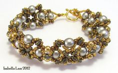 TWINNI Bracelet Exclusively PDF Beading tutorial with by bead4me, $9.00