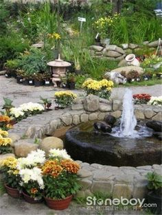 Water fountains are beautiful and modern front yard and backyard ideas that add more interest and style to landscaping, creating pleasant environment and cooling effect. Outdoor water fountains are at Small Front Yard Landscaping, Backyard Landscaping, Backyard Designs, Landscaping Ideas, Backyard Ideas, Backyard Waterfalls, Backyard Ponds, Garden Ideas, Backyard Decorations