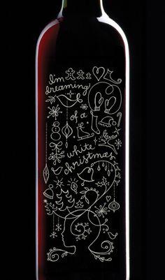 White Christmas Wine Bottle - Allison Newhouse