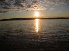 Bernard Lake, the beautiful view from Glen Bernard Camp