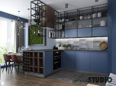 niebieska kuchnia - zdjęcie od MIKOŁAJSKAstudio - Kuchnia - Styl Industrialny - MIKOŁAJSKAstudio