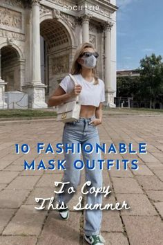 10 Fashionable Mask Outfits To Copy This Summer She Mask, Christopher Esber, Nike Kicks, Tie Dye Outfits, American Sports, Chunky Sneakers, Instagram Influencer, Cashmere Cardigan, Tie Dyed