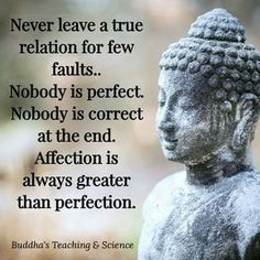 affection greater than perfection