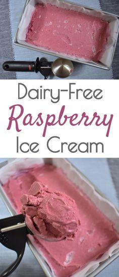 dairy free raspberry ice cream, nicecream, vegan ice cream, healthy ice cream, plant based ice cream