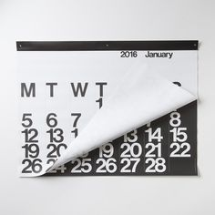 PLEASE NOTE: This is a pre-order for September delivery. This calendar was designed in 1966 by Massimo Vignelli. The calendar's impressive size and bold graphics have made it a popular as well as func
