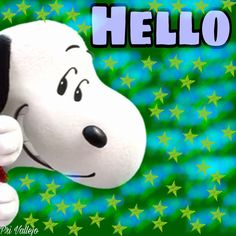 Hello! --Peanuts Gang/Snoopy