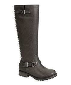 Another great find on #zulily! Gray Trooper Stud Boot by Breckelle's #zulilyfinds