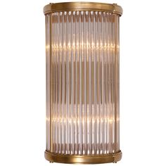 """ALLEN SMALL LINEAR SCONCE, Circa Lighting, Ralph Lauren Home, Natural Brass, 12"""" height, $660."""
