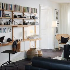 Scandinavian and Asian design meet in an interesting mix. SVALNÄS shelving units are made from bamboo displaying your things in a minimalist style. #IKEAnews #SVALNÄS #shelvingunit