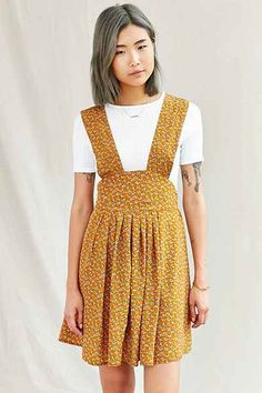 Urban Renewal Remade Isla Floral Apron Dress - Urban Outfitters