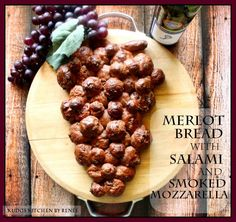 Kudos Kitchen By Renee: Merlot Bread with Salami and Smoked Mozzarella