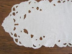 Battenburg White Lace Dresser Scarf Table Runner Flowers Jewelry Box Simple But Very Pretty And Home Y Setting The Pinterest